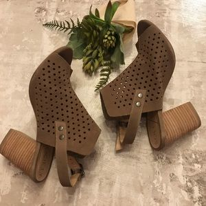 Sole Society Perforated Suede Slingback Sandals